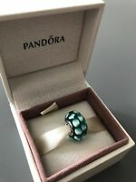 Teal Lattice Genuine PANDORA murano charm