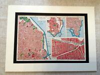 Antique Map Print South America Santiago Buenos Aires Rio de Janeiro Vintage Art