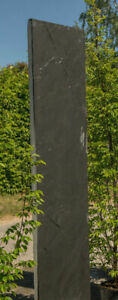 Schiefer-Stelen,gesägt, Monolith, Zaun, Gartendekoration, Naturstein, 220cm