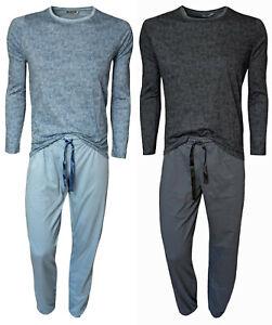 Damen Schlafanzug Pyjama Nachtwäsche Lang Alloverdruck 100% Baumwolle Gr. 36-50