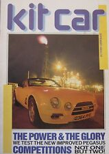 Kit Car 09/1989 featuring AC 3000ME, Sulot 23, Sprint TA, Ginetta, Pegasus, GTD