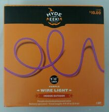 """Hyde and Eek! Boutique Halloween Battery Operated Purple Wire Light 9' 10"""""""