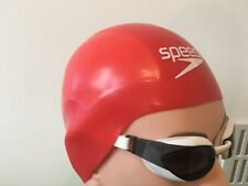 speedo Adult fastskin Swimming cap Red Size Large (Y)
