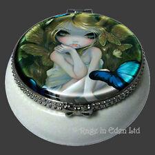 *LILY* Strangeling Fairy Art Mini Ceramic Trinket Box By Jasmine Becket-Griffith