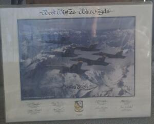 Nice Vintage Blue Angels 1989 Collectible Poster - Personalized - GREAT POSTER