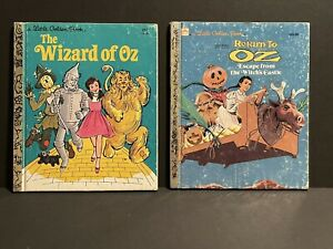 Little Golden Book The Wizard Of Oz (1982) & Return To Oz (1985)