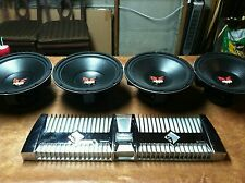 4 rockford fosgate old school power punch dvc 15s and 2  chrome power 1100a2