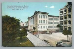 Baldorioty de Castro School SAN JUAN Puerto Rico Antique Gonzalez Padin PC 1910s