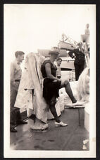 FABULOUS DRAG QUEEN CROWN SAILOR MAN COSTUME RITUAL ~ 1940s VINTAGE PHOTO gay
