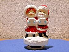 Christmas Revolving Music Box Plays Jingle Bells Santa & Mrs. Claus
