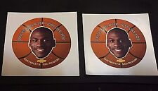 MICHAEL JORDAN Chevrolet (Drives a Blazer) LOT of 2 VINTAGE Sticker DECALS New