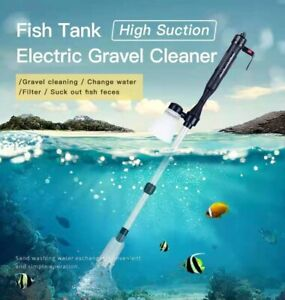 Aquarium Clean Electric Vacuum Water Change Siphon Pump Gravel Cleaner Fish Tank