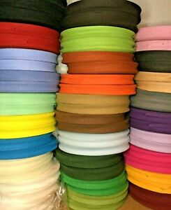 Cotton Bias Binding Tape - 16 mm x 33 mt Roll  - Choice of Colours Craft Bunting