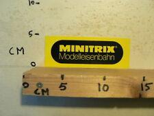 STICKER,DECAL MINITRIX MODELLEISENBAHN TREIN TRAIN