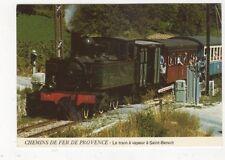 Le Train A Vapeur A Saint Benoit France 1990 Postcard 476a