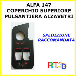 Pulsantiera Alfa Romeo 147 Coperchio mascherina alzavetri alzacristalli pulsanti