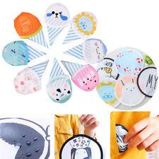 Random Summer Cartton Round Mini Folding Fan Cute Small fan Silk Souvenir Gift~~