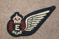 "Original WW2 Royal Canadian Air Force (RCAF) ""E"" Flight Engineer Uniform Wing"