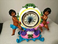 Beautiful ❤️African American Pottery Working Clock