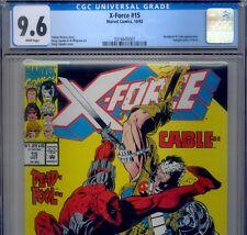 PRIMO:  X-FORCE #15 CGC 9.6 NM+ DEADPOOL + CABLE Marvel movie comics lot 2 98