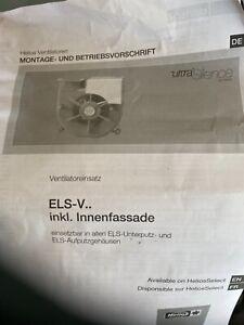Helios Ventilatoreinsatz ELS-VN 60/35 mit Fassade und Nachlauf Nr. 8139
