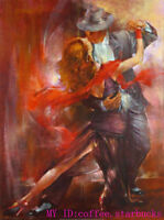 ZWPT406  modern hand-painted Tango Dancer wall art oil painting on canvas