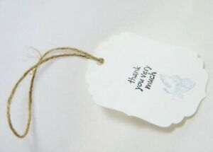 30 Pieces Wedding Favour Tags Small Thank You for Sharing Special Day Labels UK