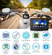 "5"" Motorcycle Car GPS Waterproof Motorbike Bluetooth Navigation NAV 8GB + Maps"