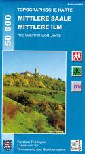 Topographische Wanderkarte Mittlere Saale - Mittlere Ilm / Weimar, Jena / Bl. 64