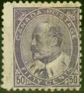 Canada 1903 50c Dp Violet SG187 Good Used