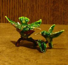 Jeweled Trinket Box #J3320 HUMMINGBIRDS, NEW/Box From Retail Store, by Welforth