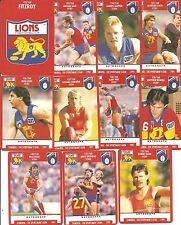 1991 Scanlens Stimorol Fitzroy Lions 11 cards Team Set  Near Mint