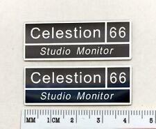 Celestion 66 Studio Monitor Speaker Badge Logo Emblem Aluminum Pair