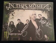 IN THIS MOMENT BAND SIGNED AUTOGRAPH 8.5 X 11 POSTER MARIA BRINK ALL 5