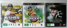Ashes Cricket 2009, International Cricket 2010 and Don Bradman Cricket 14 PS3