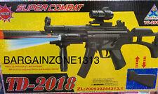Kids Assault Rifle Toy Swat Gun Light Sound Vibration SUPER COMBAT TD-2018