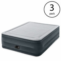 Intex Comfort Plush Dura-Beam Air Bed Mattress w/ Built-In Pump, Queen (3 Pack)