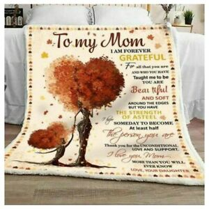 To My Mom Blanket Gift For Mom Gift For Mother Sherpa Fleece Blanket