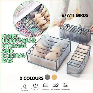 Foldable Drawer Organizer Divider Bra Sock Underwear Storage Closet Wardrobe Box