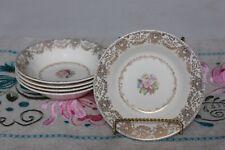 Vintage Royal China Delmar Lace set of 5 Berry Dessert Bowls - 22K Gold Trim