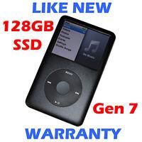 Apple IPOD CLASSIC - 7th Generation - 120GB / 128GB SSD - Black - LIKE NEW!