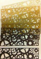 Nuevo-Cheery Lynn Steampunk Gear frontera dado Corta-Marrones/neutros