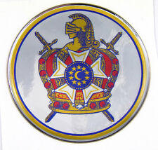 DeMolay Masonic Emblem domed decal on chrome Bike Motorcycle Car De-Molay
