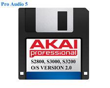 AKAI S2800, s3000, s3200 système d'exploitation sur disquette la version 2.00