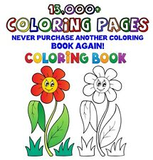 13,000+ Coloring Book Pages Collection. Printable Coloring Book Pages on DVD.