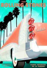 Rolling Stones - OLE Tour - De La Havana - March 2016 - Poster 13x19 - Art Deco