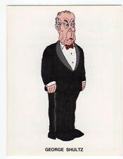 figurina VIP DI FORATTINI LA REPUBBLICA 1988 NEW numero 75 GEORGE SHULTZ