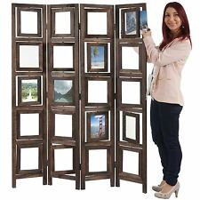 Paravent galerie de photos II, cloison de séparation, marron 160x125cm