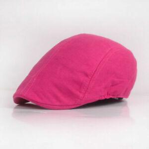 Women Men Classic Cabbie Casquette Peaked Hat Plain Driving Ivy Beret Flat Cap