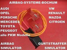 Audi A4 Airbag Simulator für alle Airbags und Gurtstraffer im Fahrzeug